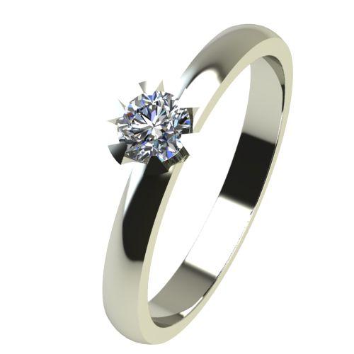 Годежен Пръстен бяло злато с диамант Flores 0,07 ct. 2378