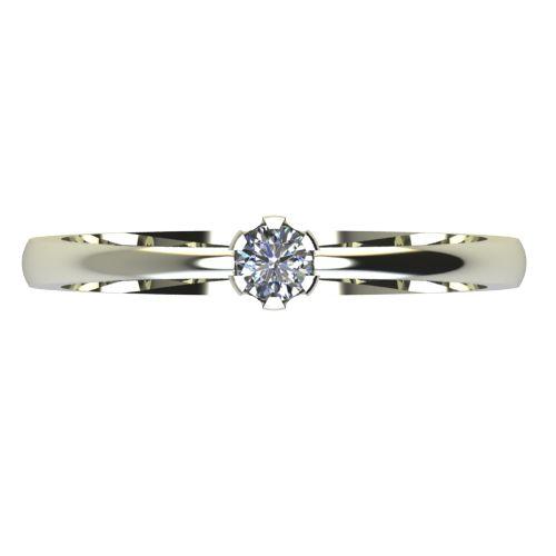 Годежен Пръстен бяло злато с диамант Flores 0,07 ct. 2395 a