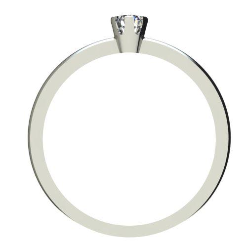 Годежен Пръстен бяло злато с диамант Flores 0,07 ct. 2395 b
