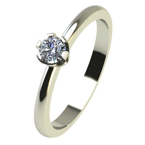 Годежен Пръстен бяло злато с диамант Flores 0,07 ct. 2395
