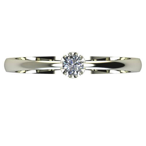 Годежен Пръстен бяло злато с диамант Flores 0,07 ct. 2409 a