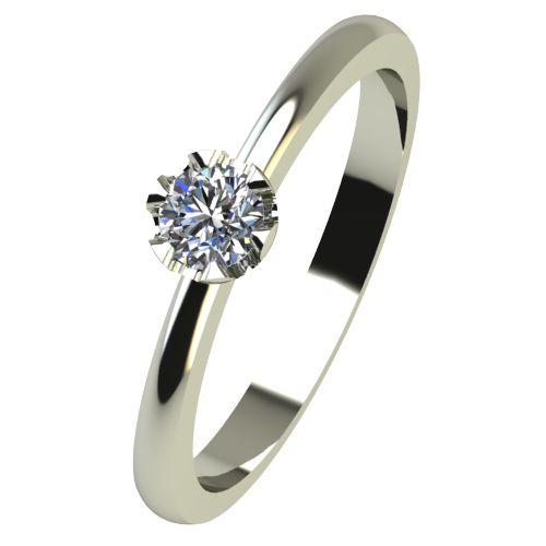 Годежен Пръстен бяло злато с диамант Flores 0,07 ct. 2409