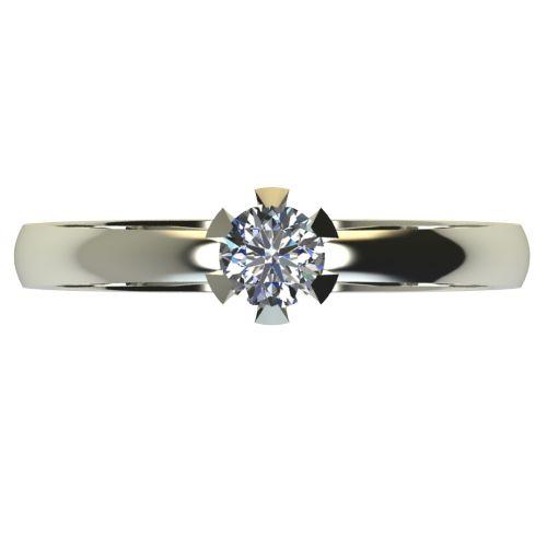Годежен Пръстен бяло злато с диамант Flores 0,12 ct. 2379 a