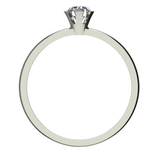 Годежен Пръстен бяло злато с диамант Flores 0,12 ct. 2379 b