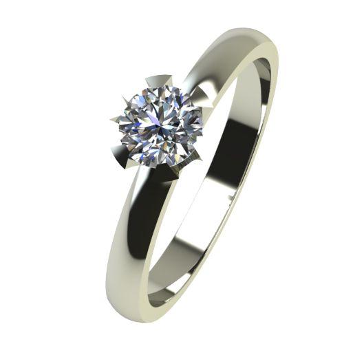 Годежен Пръстен бяло злато с диамант Flores 0,12 ct. 2379