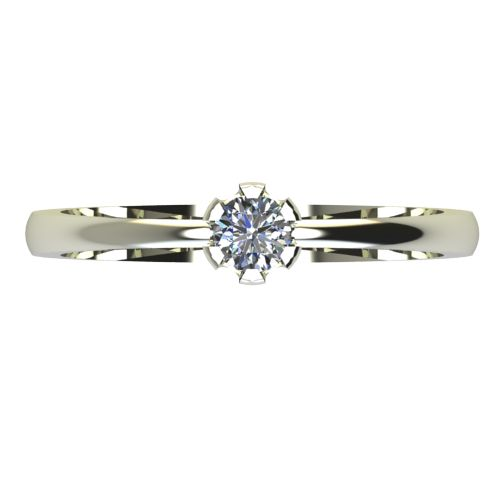 Годежен Пръстен бяло злато с диамант Flores 0,12 ct. 2396 a
