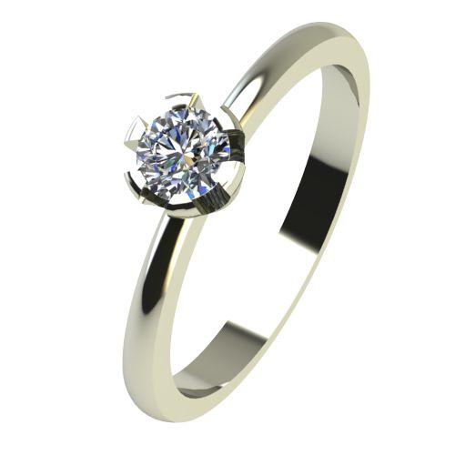 Годежен Пръстен бяло злато с диамант Flores 0,12 ct. 2396