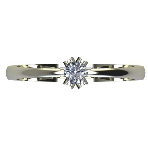 Годежен Пръстен бяло злато с диамант Flores 0,12 ct. 2410 a