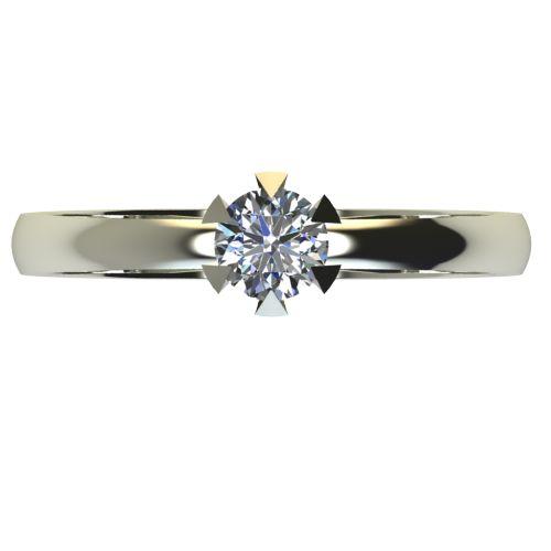Годежен Пръстен бяло злато с диамант Flores 0,17 ct. 2380 a