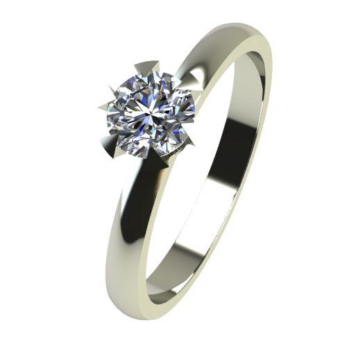 Годежен Пръстен бяло злато с диамант Flores 0,17 ct. 2380