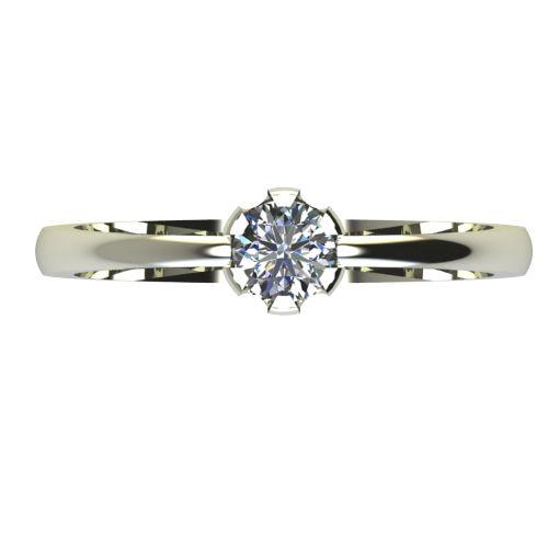 Годежен Пръстен бяло злато с диамант Flores 0,17 ct. 2397 a