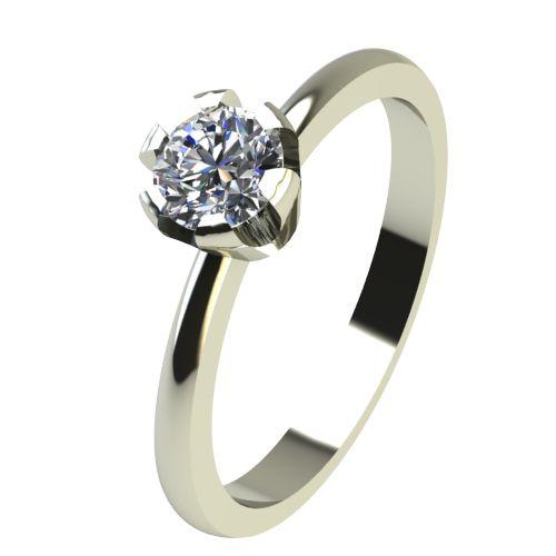 Годежен Пръстен бяло злато с диамант Flores 0,17 ct. 2397