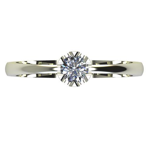 Годежен Пръстен бяло злато с диамант Flores 0,17 ct. 2411 a