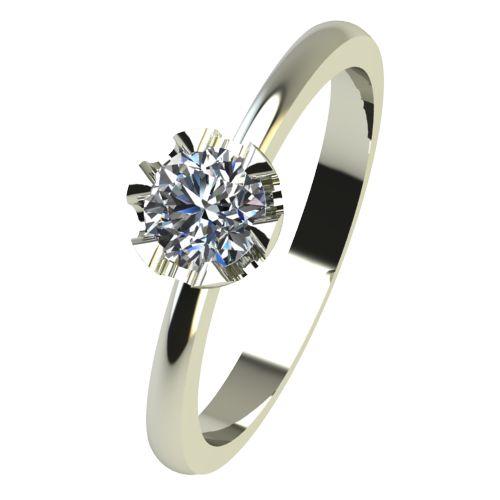 Годежен Пръстен бяло злато с диамант Flores 0,17 ct. 2411