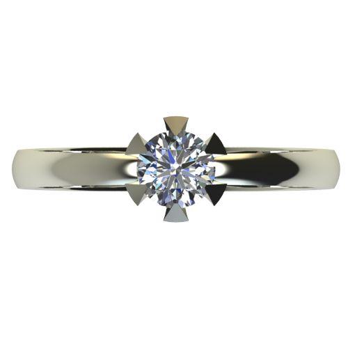 Годежен Пръстен бяло злато с диамант Flores 0,25 ct. 2381 a