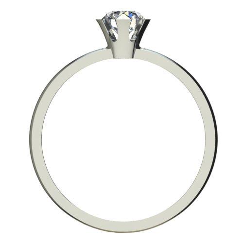 Годежен Пръстен бяло злато с диамант Flores 0,25 ct. 2381 b