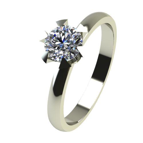 Годежен Пръстен бяло злато с диамант Flores 0,25 ct. 2381