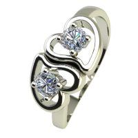 Годежен Пръстен бяло злато с диамант Hearts 0,14 ct. 2389