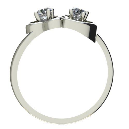 Годежен Пръстен бяло злато с диамант Hearts 0,14 ct. 2389 b