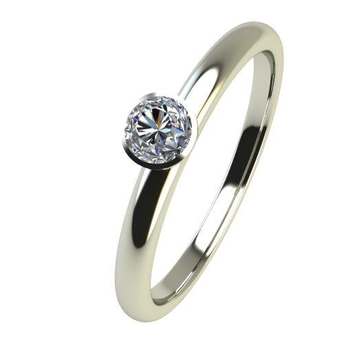 Годежен Пръстен бяло злато с диамант Moon 0,04 ct. 2413