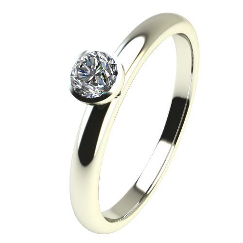 Годежен Пръстен бяло злато с диамант Moon 0,07 ct. 2414