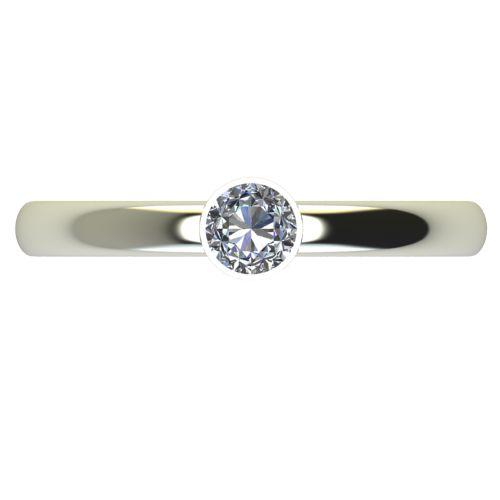 Годежен Пръстен бяло злато с диамант Moon 0,12 ct. 2415 a