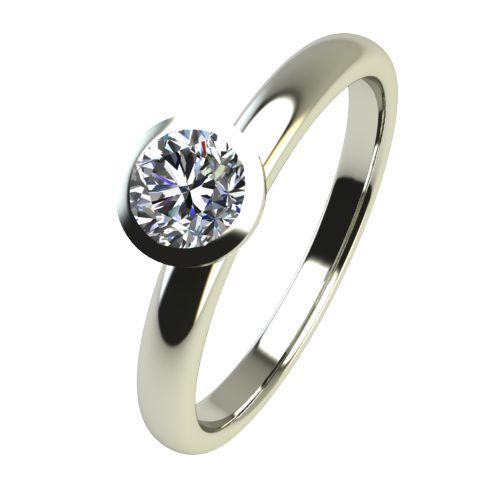 Годежен Пръстен бяло злато с диамант Moon 0,17 ct. 2416