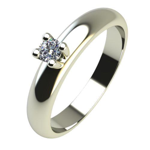 Годежен Пръстен бяло злато с диамант Piece 0,04 ct. 2398