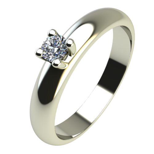 Годежен Пръстен бяло злато с диамант Piece 0,07 ct. 2399