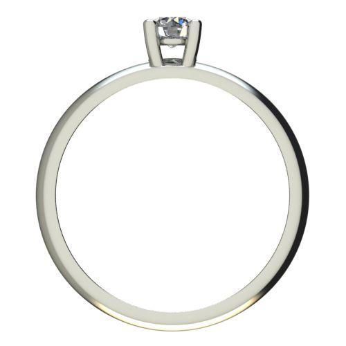 Годежен Пръстен бяло злато с диамант Piece 0,12 ct. 2400 b
