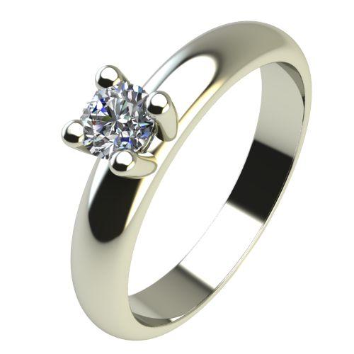 Годежен Пръстен бяло злато с диамант Piece 0,12 ct. 2400