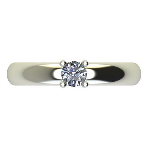 Годежен Пръстен бяло злато с диамант Piece 0,17 ct. 2401 a