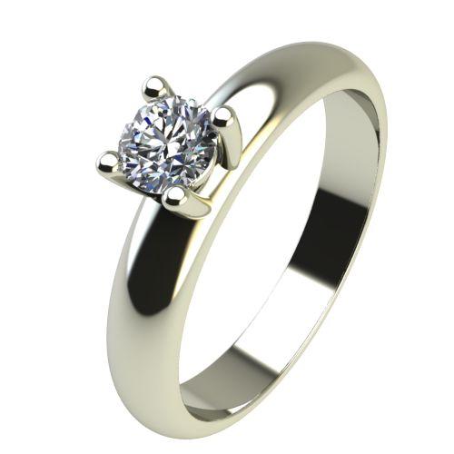 Годежен Пръстен бяло злато с диамант Piece 0,17 ct. 2401