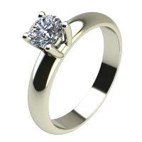 Годежен Пръстен бяло злато с диамант Piece 0,25 ct. 2402