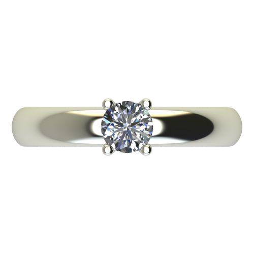 Годежен Пръстен бяло злато с диамант Piece 0,25 ct. 2402 a