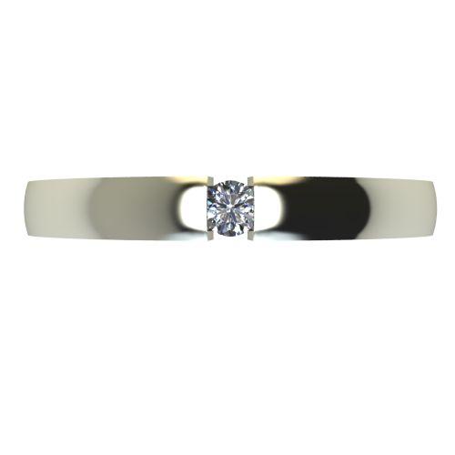 Годежен Пръстен бяло злато с диамант Safe 0,04 ct. 2417 a
