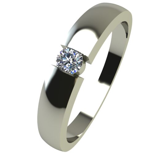 Годежен Пръстен бяло злато с диамант Safe 0,04 ct. 2417