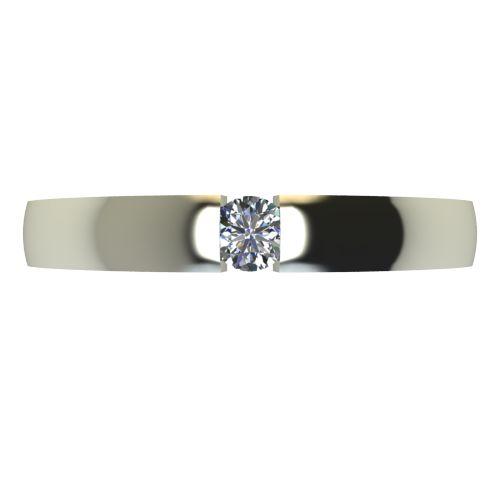 Годежен Пръстен бяло злато с диамант Safe 0,07 ct. 2418 a