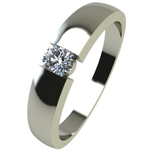 Годежен Пръстен бяло злато с диамант Safe 0,07 ct. 2418