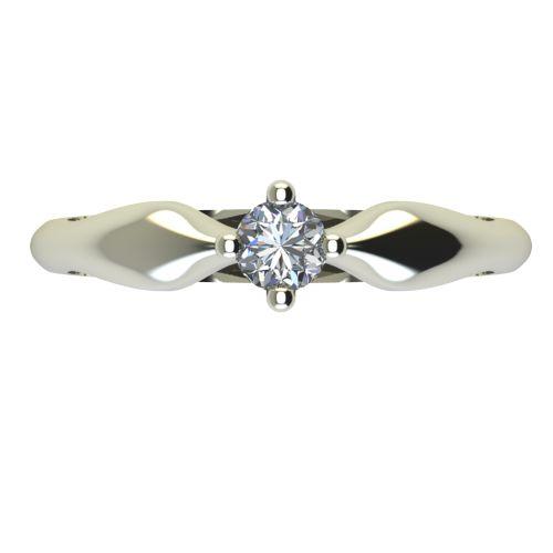 Годежен Пръстен бяло злато с диамант Thin 0,12 ct. 2390 a