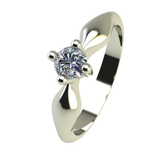 Годежен Пръстен бяло злато с диамант Thin 0,12 ct. 2390