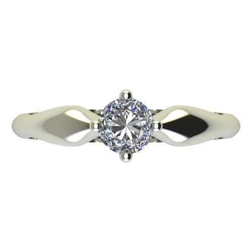 Годежен Пръстен бяло злато с диамант Thin 0,17 ct. 2391 a