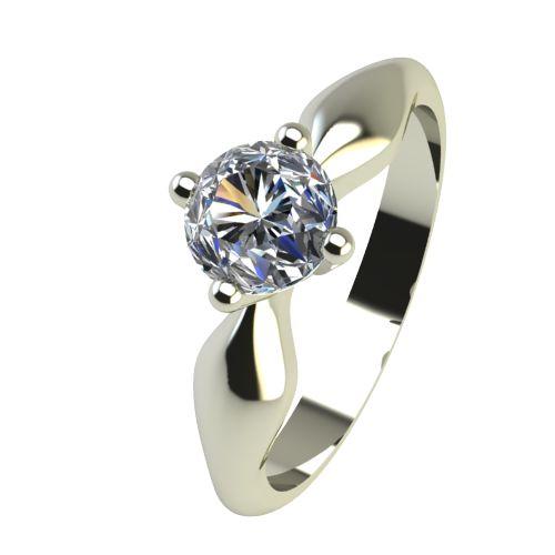 Годежен Пръстен бяло злато с диамант Thin 0,17 ct. 2391