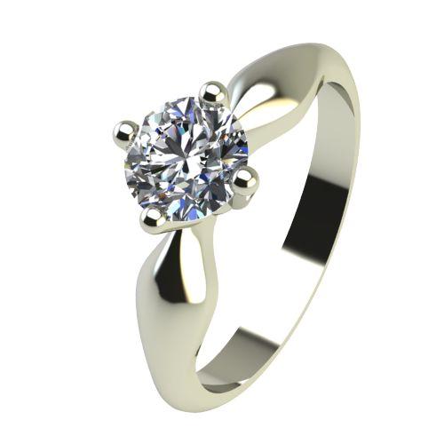 Годежен Пръстен бяло злато с диамант Thin 0,25 ct. 2392