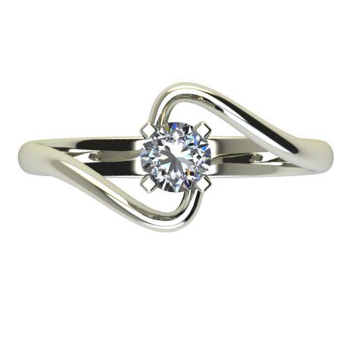 Годежен Пръстен бяло злато с диамант Twinkle 0,25 ct. 2388 a