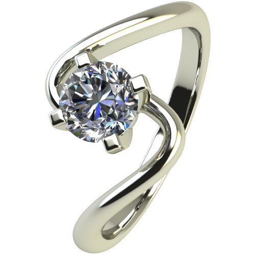 Годежен Пръстен бяло злато с диамант Twinkle 0,25 ct. 2388