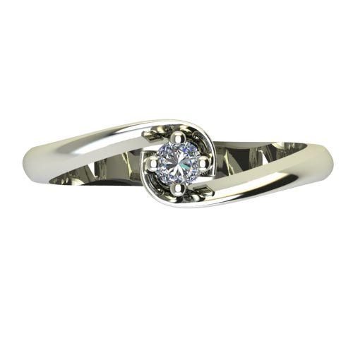Годежен Пръстен бяло злато с диамант Unity 0,04 ct. 2403 a
