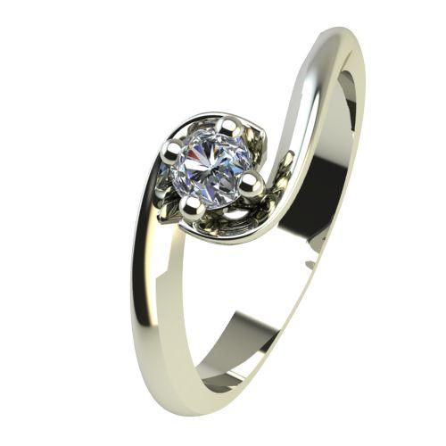 Годежен Пръстен бяло злато с диамант Unity 0,04 ct. 2403