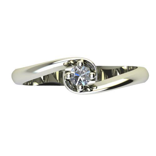 Годежен Пръстен бяло злато с диамант Unity 0,07 ct. 2404 a