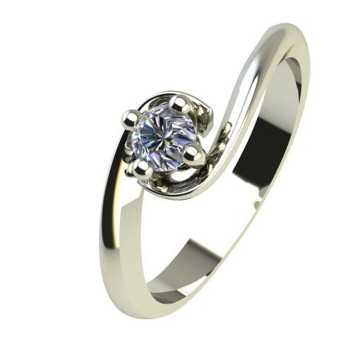 Годежен Пръстен бяло злато с диамант Unity 0,07 ct. 2404